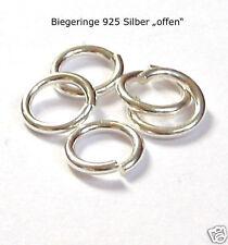 """5 Stück Biegeringe 8 mm """"offen"""" 925 Silber Ringe Ösen Schmuckzubehör Schmuck"""