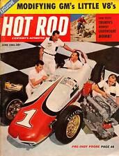 HOT ROD JUNE1961,TRIUMPH RACING 500,GM ALUMINUM V8,ROADSTER SHOW,HOTROD MAGAZINE