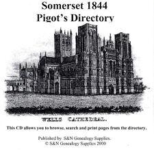 Somerset 1844 Pigot's Directory