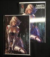 WHITE WIDOW #1 DEBALFO VIRGIN VARIANT + LENTICULAR KICKSTARTER SET (TOP SHELF!)