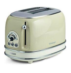Ariete Toaster Vintage 2 fette beige 155 Tostapane Vintage con Pinze GARANZIA IT