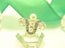 Unbehandelte Ringe mit Perlen für Damen (18,1 mm Ø) 57