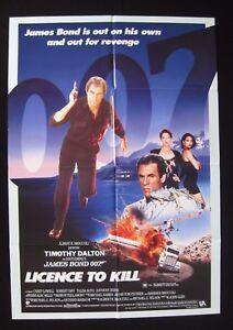 LICENCE TO KILL 1989 Orig Australian movie poster Timothy Dalton James Bond 007