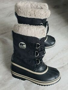 Sorel fine womens boys Winter Waterproof boots, good cond.size UK-3 EU-35 World.