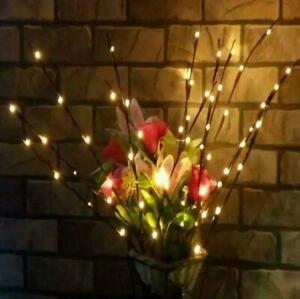 Lichterzweige Warmwhite Led Zweig Licht Weihnachten Gartendekoration Lampe