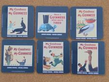 Set Of 6 Genuine Gilroy Vintage Guinness Coasters Hardwood Felt Back, Beermats