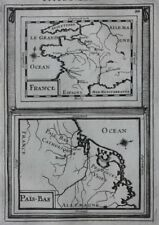 Original antique map FRANCE, THE NETHERLANDS, 'PAIS BAS', A. M. Mallet, 1683
