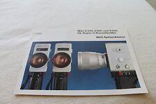Broschüre Nizo   Super 8     Kamera