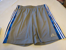 Adidas Climalite Performance shorts Men's active ESS 3S Short grey blue XXL 2XL