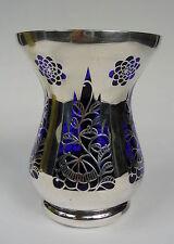 Vase SILBER OVERLAY Haida Silver Overlay