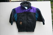 Childrens ski jacket. Black/Purple/Petrol. Age 3to4 years. Manbi 'Panther'