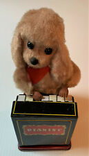 "The ""Pianist"" Dog Vintage Japan Battery Operated Tin Toy Works 1960's See VIDEO!"