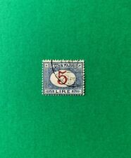 Regno, 1870, Segnatasse, 5 cent rosso, usato