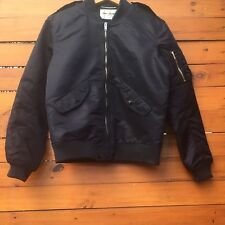 SAINT LAURENT PARIS-Navy Blue Marine Bomber Jacket-Hedi Slimane-Size 48