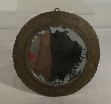 Antique Vintage African Middle Eastern Style Bronze Mounted Mirror Pot Metal