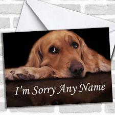 Tarjeta de perro triste lo sentimos Personalizadas