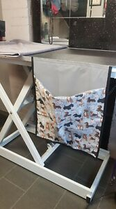 The original Fur bin And  tidy for your Dog Grooming table, Groomers  Face Mask