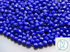1 Mass/approx. 1200 Fire Polished Beads 4mm Navy Blue WHOLESALE