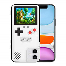 Elekpopu Game Case for iPhone 11, Retro 3D Game Cover with 36 Classic Games
