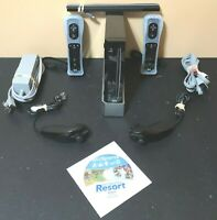 Wii Black Console Bundle RVL-001 - Wii Sports/ Sports Resort Combo Disc- Tested