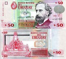 URUGUAY 50 Pesos Banknote World Money UNC Currency BILL pick p84 2003 Note Bill