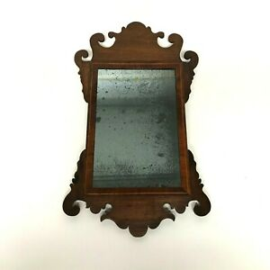 Small 19th Century Chippendale Style Mahogany Tarnish Mirror