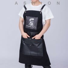 Barber Aprons Oxford Leather Durable Wears Stylist Workwear Uniforms Hairdresser