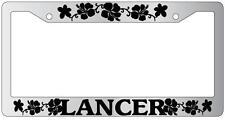 Chrome License Plate Frame LANCER HIBISCUS Auto Accessory