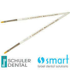 Lot x 2 Schuler Dental Lab ceramic Opaque brush Synthetic hair Germany 2