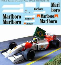 1/43 for McLaren Ford mp4/8 Ayrton Senna 1993 f1 Decals TB Decal tbd105