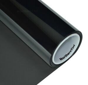 "20""x100' Window Tint Roll 20% vlt Dark 2-Ply Carbon Black Film"