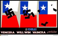 Political Cuban POSTER.CHILE will WIN!.Allende art.am66.World Revolution Art