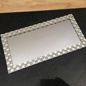 mirror diamante CANDLE PLATE BLING WEDDING TABLE MIRROR CANDLE PLATE Tray 32cm