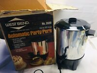 Vintage West bend Electric Percolator Coffee Pot 12-22 Cup # 3520 Coffee Maker