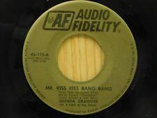 Glenda Grainger 45 Mr Kiss Bang bw Who - Audio Fidelity VG++ Thunderball