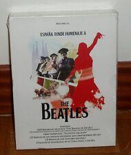 ESPAÑA RINDE HOMENAJE A THE BEATLES-PACK 2 CDS+DVD+LIBRO+FOTOS-NUEVO-PRECINTADO