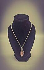 NOVACULITE ORGONE ENERGY PENDANT Crystal Gem Elixir & Herkimer Diamond Necklace