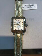 Michele Deco Sport Two-Tone Yellow Gold Tone Gold Lizard Watch  MWW06K000027 $71
