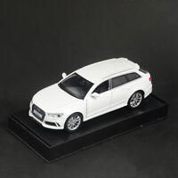 1:32 Scale Audi RS6 Quattro Model Car Alloy Diecast Toy Vehicle White Collection