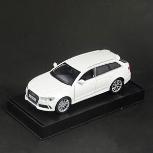 1:32 Audi RS6 Quattro Model Car Diecast Gift Toy Vehicle Pull Back Cars White