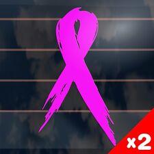 2 x Pink Ribbon breast cancer window Car Stickers 150mm