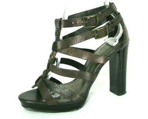 Simply Vera Wang Didi Shoes Sz 6 Gladiator Sandal Heel Platform Brown Leather