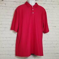 Cypress Club Performance Mens Polo Shirt Size XXL Red Short Sleeve Golf 2XL