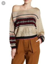$168 FREE PEOPLE SKI LAKE ONE SHOULDER SWEATER SIZE SMALL