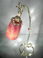 """1900-10 DAUM ‡ NANCY LAMPE EN BRONZE ET """"PÂTE DE VERRE"""" VITRIFIÉ ART NOUVEAU"""