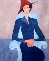 Don Furmas Portrait Painting Santa fe New Mexico Artist Lady Sitting In A Chair