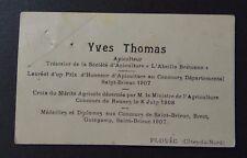 Carte de visite Yves Thomas APICULTEUR Abeille bretonne PLOUEC visit card