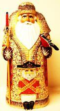 "Alkota Russian Genuine Wooden Collectible Santa ""Fyodor Shalyapin"", 13""H"