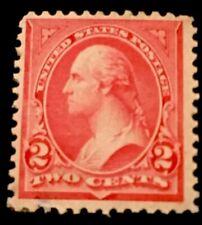 US SCOTT #251 1894 2 CENT WASHINGTON MINT-OG-HINGED-THIN