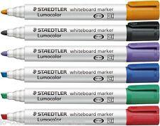 STAEDTLER LUMOCOLOR WHITEBOARD SINGLE MARKER CHOOSE FROM CHISEL OR BULLET TIP